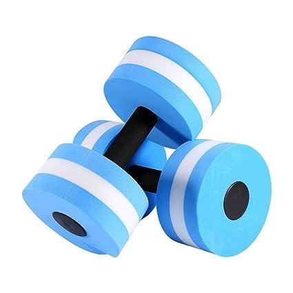 Dilwe 1 par de mancuernas de aeróbico acuáticas, EVA, para ejercicios de natación