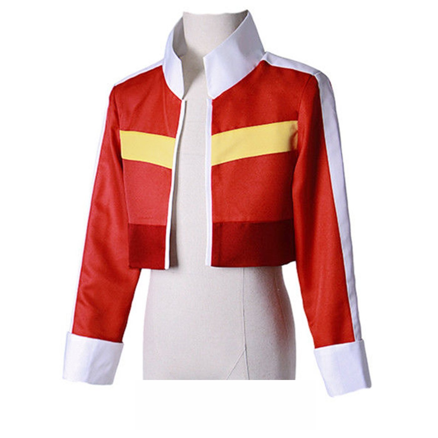 COSFLY Legendary Defender Keith Red Jacket Top Coat Cosplay Costumes Outfit (Medium, Female)
