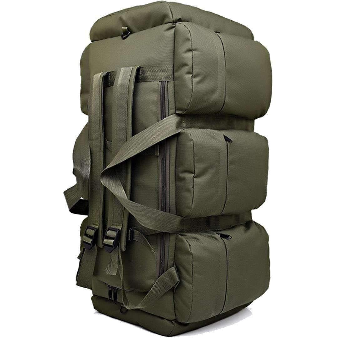 MYXMY Large-Capacity Handbag Backpack Sports Men Outdoor Luggage Bag Rucksack Camping Travel Bag self-Driving Tent Bag (85L) (Color : A)