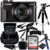 Canon PowerShot G7 X Mark II Digital Camera Bundle with Carrying Case and Accessory Kit (10 Items)