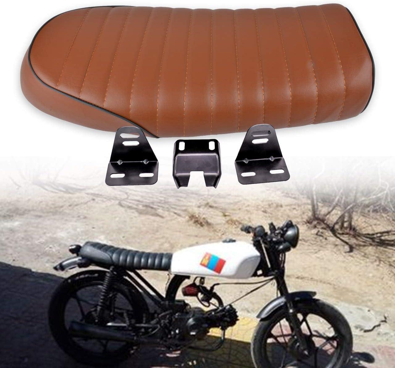 Modification Saddle Seat Universal Elerose Universal Leather Motorcycle Racing Seat