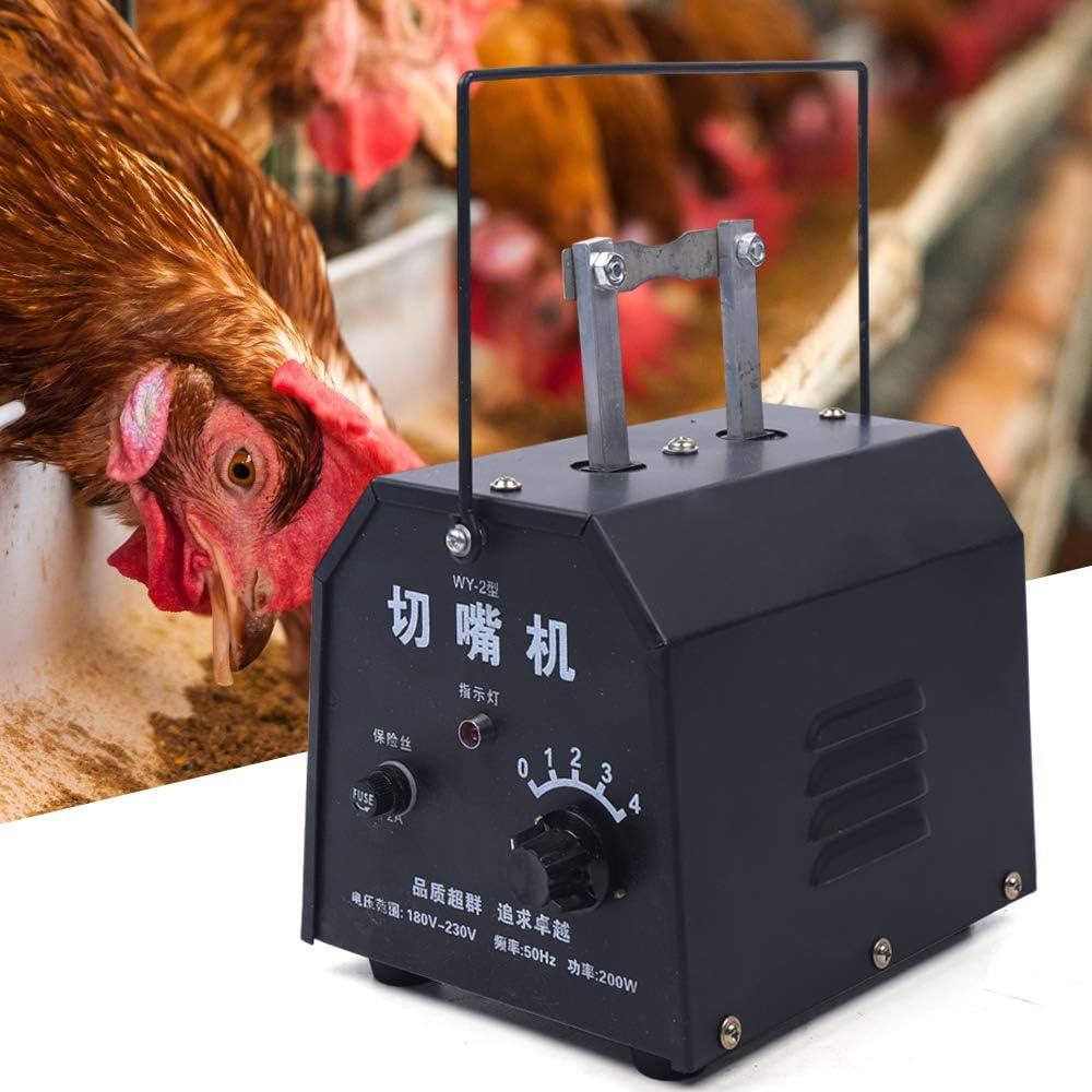 US Shipping Gdrasuya10 Automatic Electric Chicken Debeaking Machine Chicken Beak Cutting Tool 110V Electric Debeaking Machine Chicken Debeaker Cutting Equipment with 15 Blades