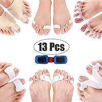 Corrector Big Toe 13 Pcs Bunion Toe Separators Straightener Silicone Thumb Vaburs Correction Kit Pain Relief Feet Care…