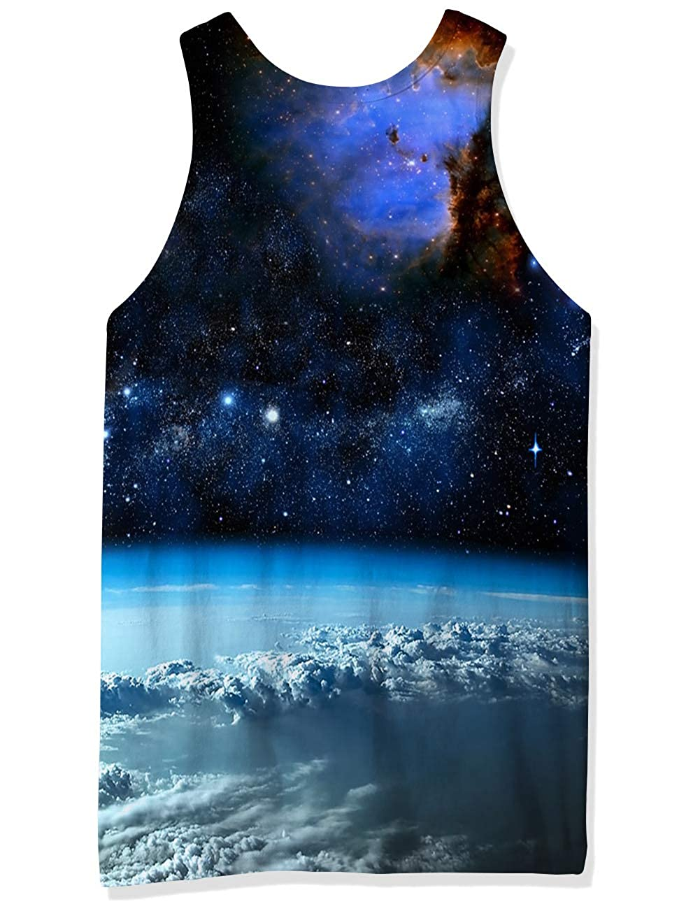 RAISEVERN Mens Funny Tank Tops 3D Printed Cool Graphic Sleeveless Cool Gym Workout T-Shirt