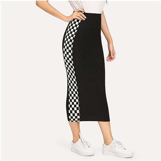 Availcx-Sexy Long Skirt Primavera Mujeres Faldas Flacas Elegantes ...