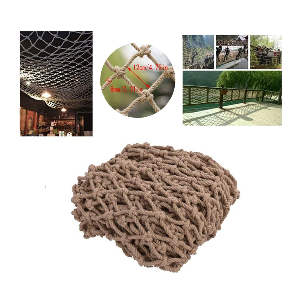 Safety Outdoor Railing Net Child Safety Net Stairs Balcony Anti-Fall Nets Protective Nets Hemp Ropes Decorative Nets Restaurant Bar Ceiling Nets Climbing Nets Hanging Clothes Nets (Size : 1x3m)