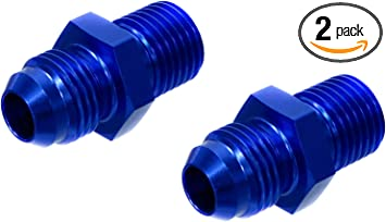 A-1 Fitting Adapter Straight 6 AN Male 1//2 in NPT Male Aluminum Anodize A1P81668