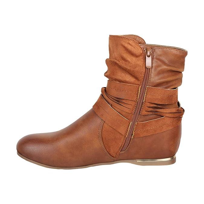 Elara - Botas de mujer   Cómodos botines clásicos   Botas planas