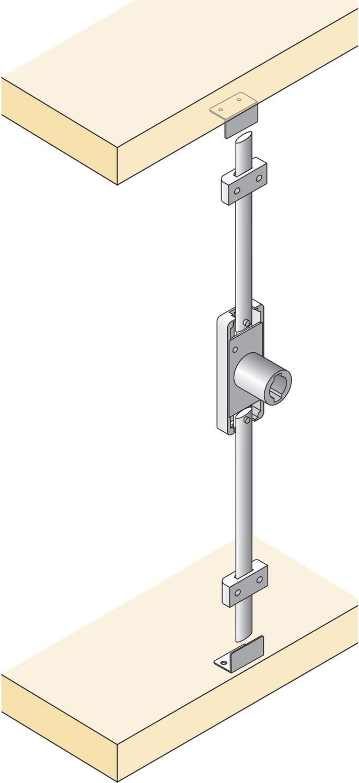 Stangen 2x 1m oder 2x 1,2 m Schubstangenschloss + 2x 1m Stange codiert Generalschl/üssel einzeln Schubstangenschloss codiert Schrankschloss M/öbelschloss mit Schubstangen 2 Schl/üssel k/ürzbar
