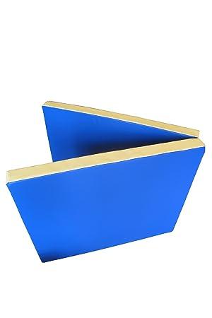 Niro Sportgeräte Turnmatte Weichbodenmatte Klappbar - Colchoneta de Entrenamiento para Gimnasia, Color Azul/Amarillo, Talla 200 x 80 x 8 cm