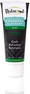 product image for Redmond Amazingly Natural Charcoal Clay Mask, Deep Cleansing Mud, Mint, 4oz tube (1 Pack)