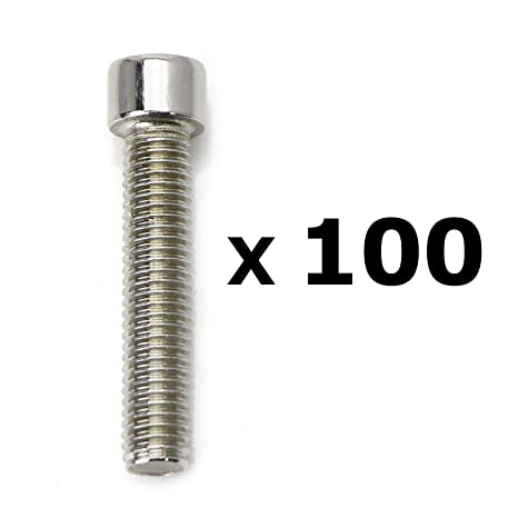 Amazon.com: Paquete de 100 tornillos hexagonales de acero ...