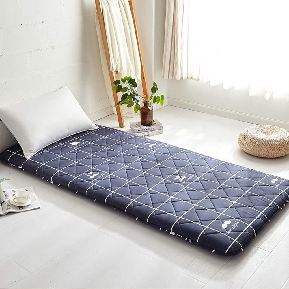 B 120x200cm(47x79inch) Thick Premium Futon Mattress pad, Foldable Japanese Futon Matt mat Sleeping Quilted Mattress mat for Student Dormitory Home-A 120x200cm(47x79inch)