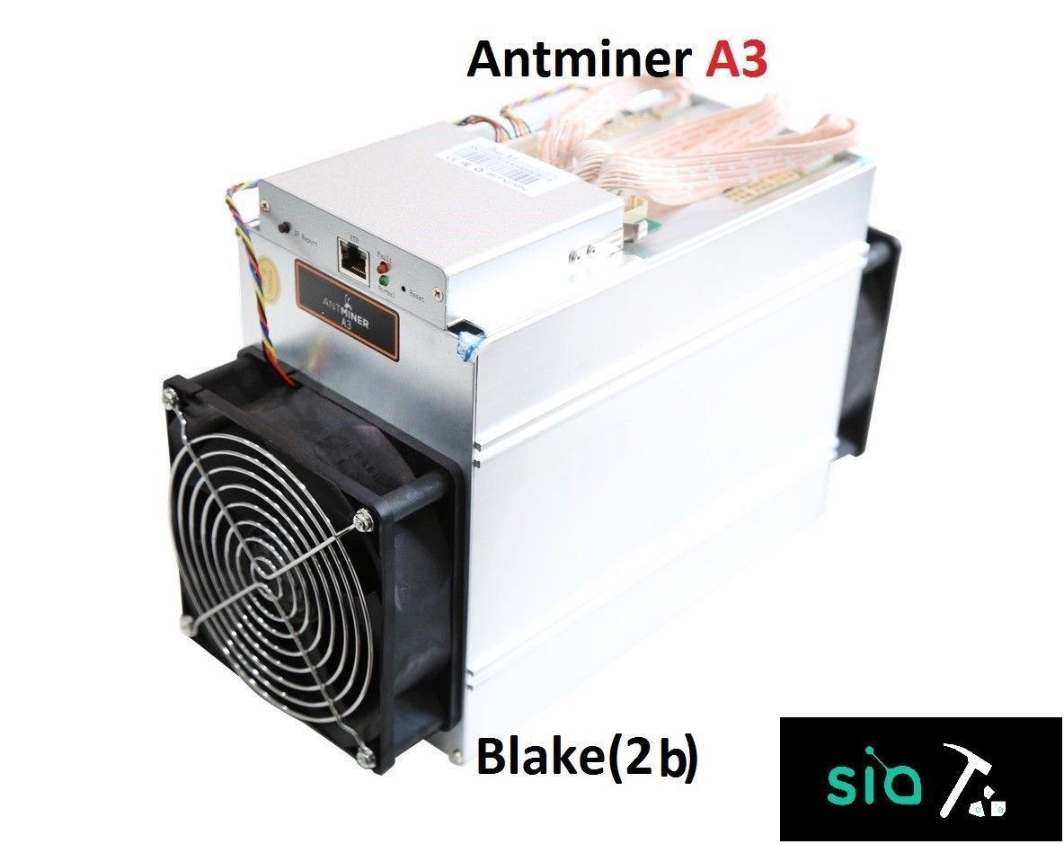 Antminer A3 Blake(2b) Algorithm Miner Siacoin 815gh/s con PSU APW3++ Bitmain