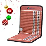 HealthyLine Infrared Heating Pad 38''x 18'' (Firm)| Amethyst, Obsidian & Tourmaline Gemstones| Heated Negative Ions |Aid Chronic Pains, Arthritis & More |Free Foil Blanket for Sauna Effect