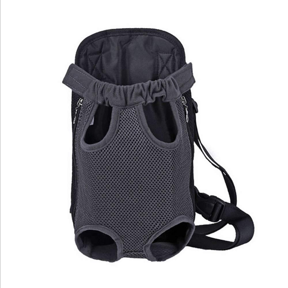 Black S Black S HYUE Pet Supplies Pet Bag Breathable Travel Shoulder Chest Bag Adjustable Straps for Pets (color   Black, Size   S)