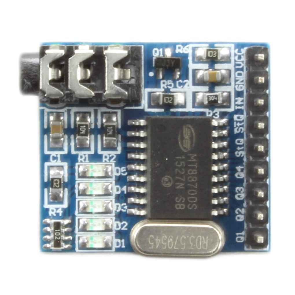 Morza MT8870 DTMF Voix décodeur Boards Module Téléphone Audio Téléphone Parole Décodage Module 5 Indicateur LED DC 5V