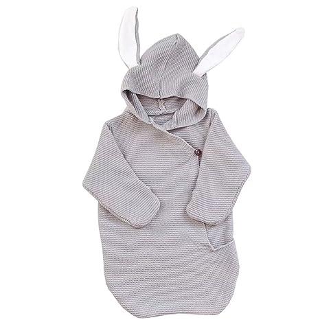 Recién nacido bebé manta conejo manta de bebé saco de dormir para bebé (Tejido por