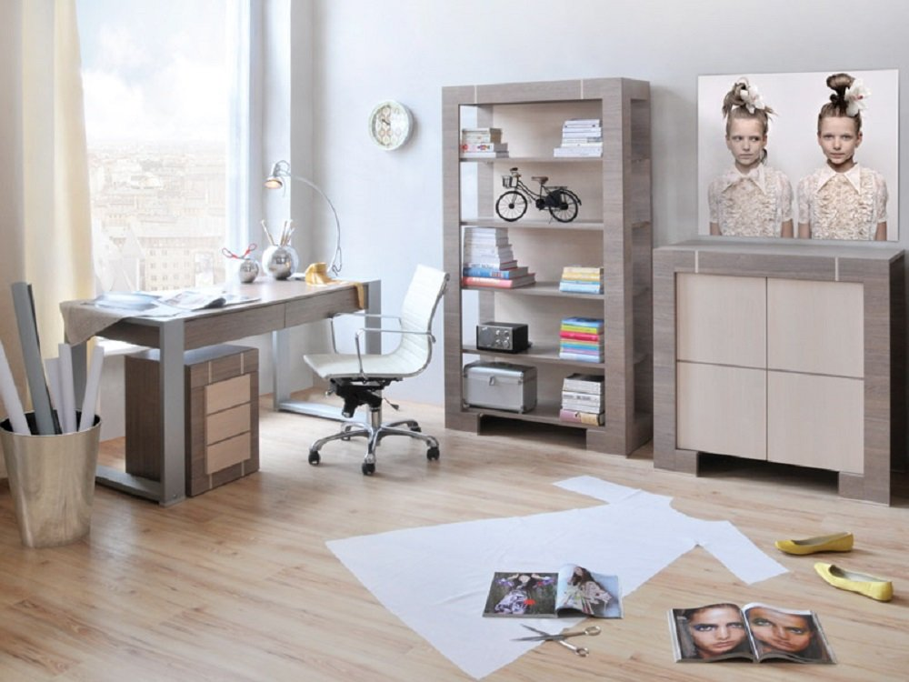 jugendzimmer kinderzimmer new generation eiche grau creme jugendm bel komplett set. Black Bedroom Furniture Sets. Home Design Ideas