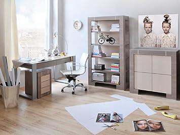 Jugendzimmer Kinderzimmer New Generation Eiche Grau Creme