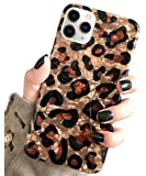 J.west Case for iPhone 11 Pro Max 6.5 inch, Luxury Sparkle Bling Translucent Leopard Pattern Cheetah Print Soft Silicone…