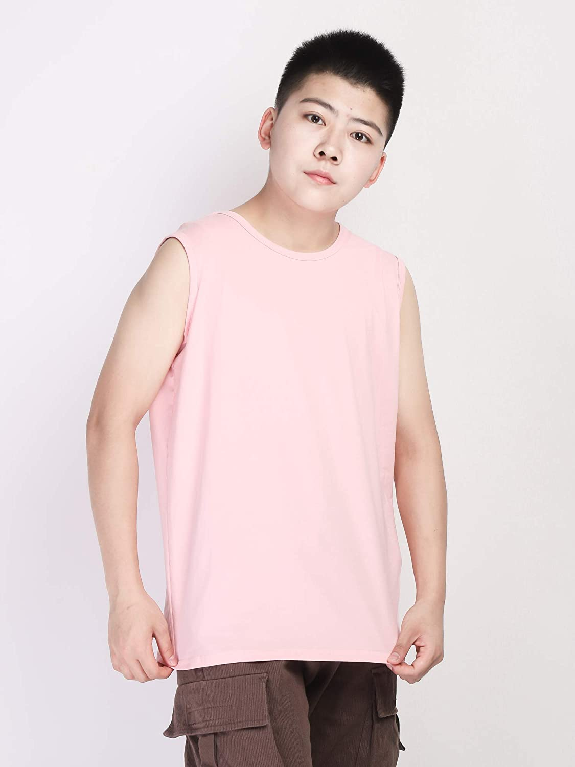 BaronHong Wide Shouldered Cotton Outerwear Chest Binder Tank Top for Tomboy Trans Lesbian