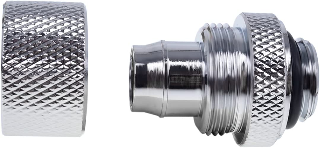 deep Black Sixpack Water Cooling Fittings Alphacool 17240 Eiszapfen 19//13mm Compression Fitting G1//4
