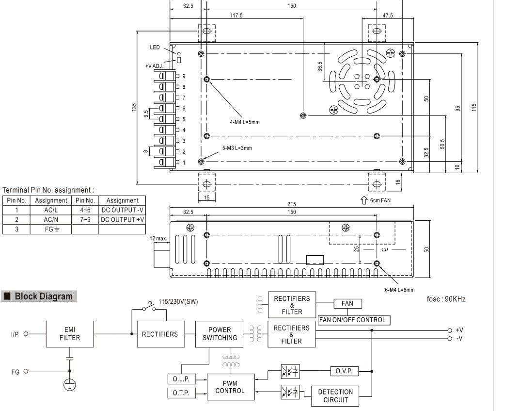 Meanwell 1000w Ul Switching Power Supply Led Driver 24vac To 24vdc Source Abuse Report Schematic Transformer 2 Year Warranty 24v Electronics