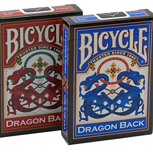 - Red & Blue Dragon Playing Cards - 2 Decks
