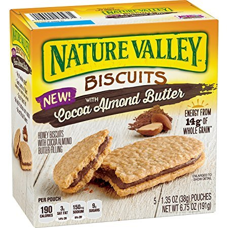 Nature Valley Biscuits With Cocoa Almond Butter 5 Count Box (PACK OF 3)