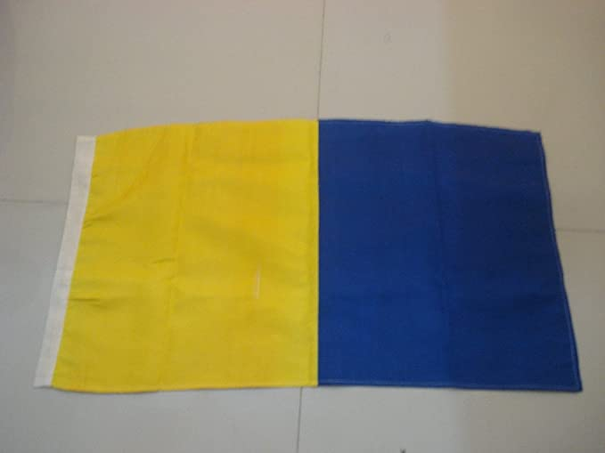 "Marine Code S Naval Signal Flag 16/"" X 28/"" LARGE FLAG Nautical // Boat"