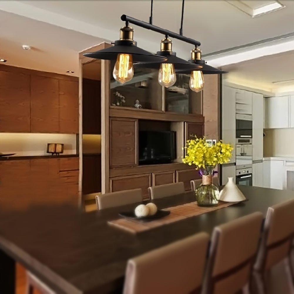 Coquimbo Rustic Home Decor Retro Pendant Retractable Chandelier Light  Adjustable Lamp 3 Head Hanging Light Loft Style Vintage Ceiling Lamps  Fixtures ...