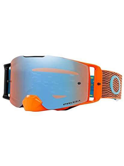 d5b43ebe3e7b Oakley Equalizer Orange-Blue-Prizm Sapphire Iridium 2019 Front Line MX  Goggle  Amazon.co.uk  Clothing