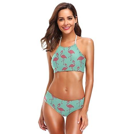 Amazon.com: SLHFPX - Traje de baño para mujer, color rosa ...