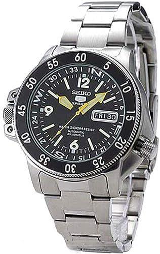 SKZ211 Seiko 5 Deportes Automático Atlas Diver Amarillo Manos Negro Dial Reloj: Seiko: Amazon.es: Relojes