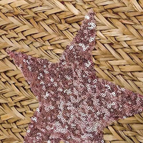 Dream Hogar Bolsa capazo bolsa playa fibra natural estrella 58x30x17 cm
