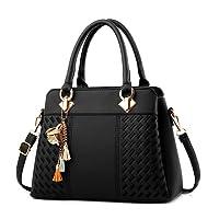 IBFUN Women Handbags Top Handle Bags PU Leather Shoulder Bags Satchels Tote Bags Ladies Purses