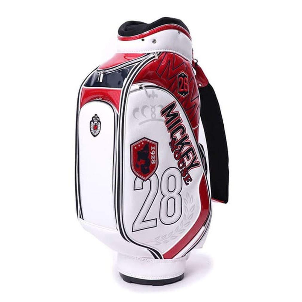 ディズニー (DN-0B1018CB) メンズ ゴルフ キャディバッグ 9 ホワイトxネイビー B07HHQ3BMP