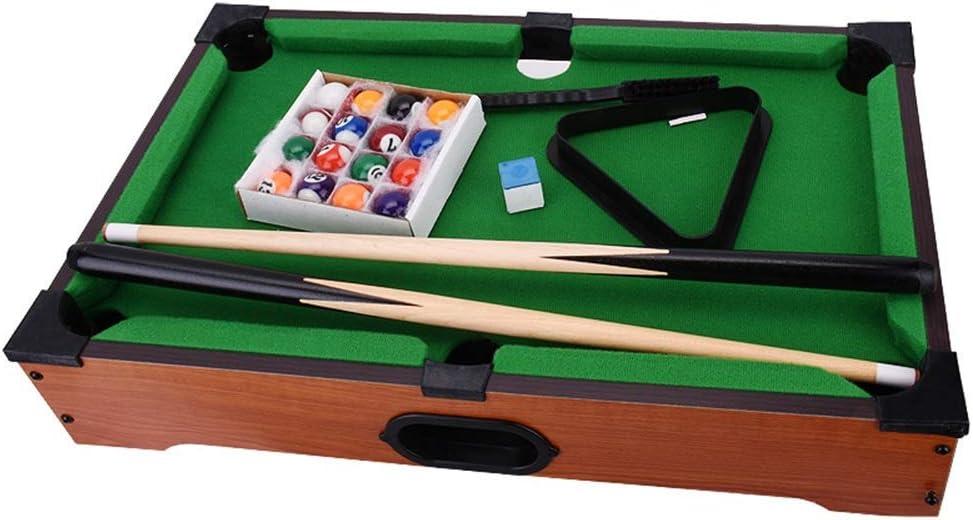Zixin For niños Juegos de Mesa, Mini Mesa de Billar Bola de Billar Inicio Conjuntos de Juegos Mesa de Billar for el niño (Color: Verde, Tamaño: 51x31x8.5cm) (Color : Green, Size :