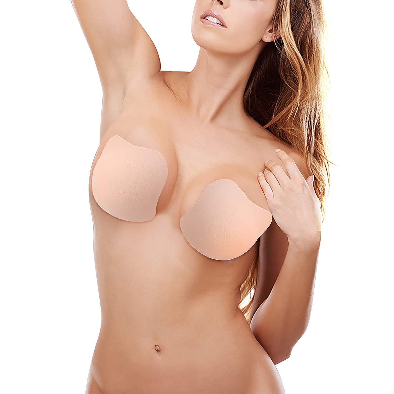 reggiseno pushup senza spalline, reggiseno invisibile seno riutilizzabile raccogliere autoadesivo silicone reggiseno senza schienale copricapezzoli adesivo per a/b/c/d tazza donne per abi(2) Semme