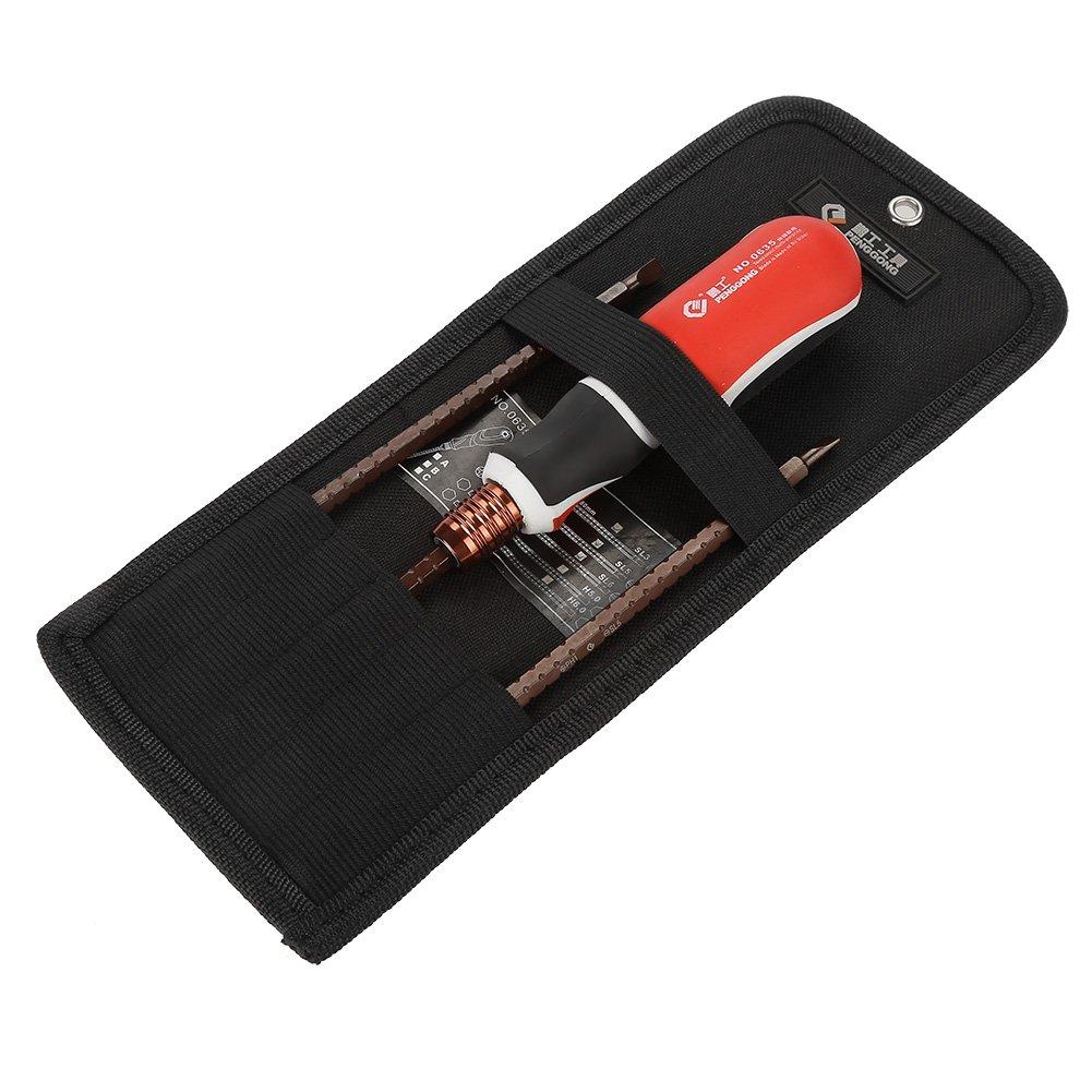 3pcs S2 Alloy Cross/Slot Flex Ratchet Screwdriver Set Adjustable Telescopic Multifunctional Hand Tools