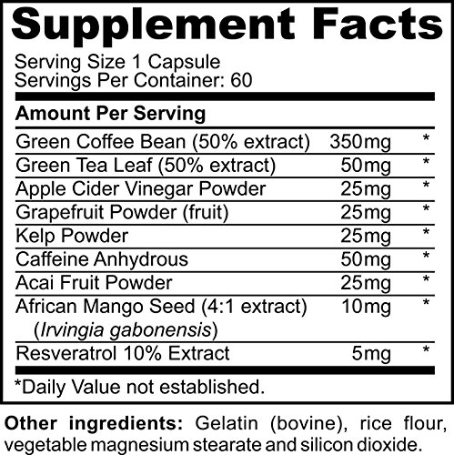 Ulimate GCB 60 count Green Coffee Bean Extract By Burton Nutrition - Chlorogenic Acid - Weight Loss - Appetite Control - Energy Support - Metabolism Boost by BURTON NUTRITION (Image #2)