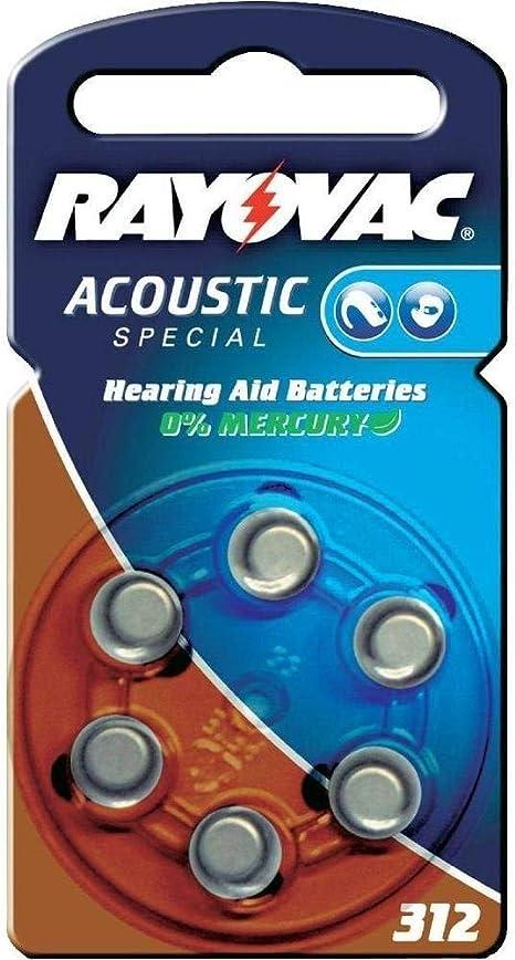 60 Batterien Rayovac Ra Acoustic 312 Hörgerätebatterien Elektronik