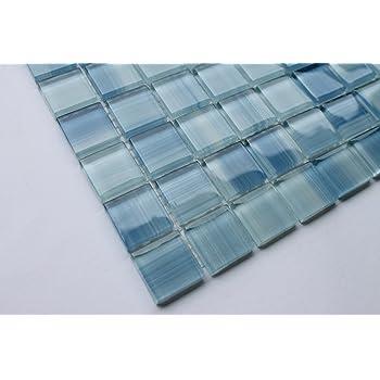 Laguna Blue Random Pattern Glass Tile Amp Granite Tile
