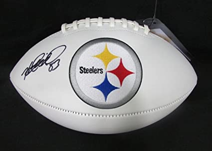 f11703366 Image Unavailable. Image not available for. Color: Heath Miller Pittsburgh Steelers  Signed/Autographed Logo Football ...