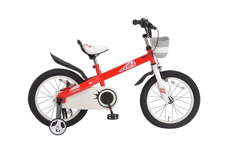 ROYALBABY(ロイヤルベイビー) 補助輪付き 16インチ子ども (幼児向け) 自転車[メーカー保証1年] フルカバーチェーンケースカゴ付き RB-WE HONEY 16 B01HPA9WZGレッド