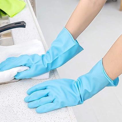 TAOtTAO - Guantes de látex de goma impermeables para lavado de platos