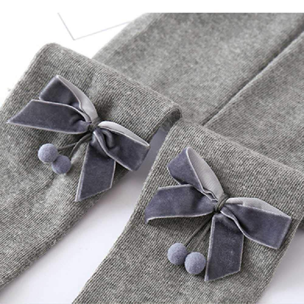 HLNK Cute Bow Baby Girl Tights Soft Cotton Knitted Newborn Infant Toddler Tights Winter Leg Warmers Baby Pantyhose Stockings