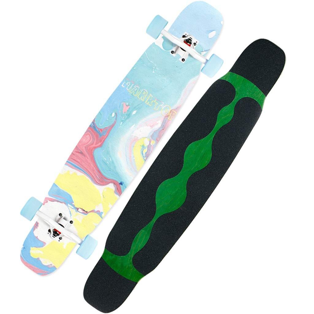 KTYXDE スケートボードの肩ダンスボード初心者スケートボードのブラシストリート4ラウンド男の子と女の子 (Color : B) B