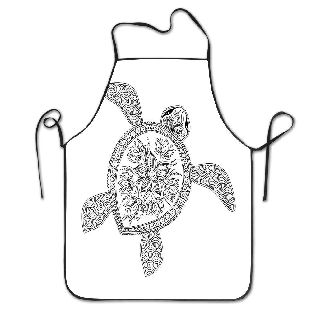 MaggieAnd Figura de Tortuga Artística Henna Mehndi, Estilo Tatuaje ...